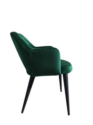 Load image into Gallery viewer, Terrazo Dining Chair Green Velvet