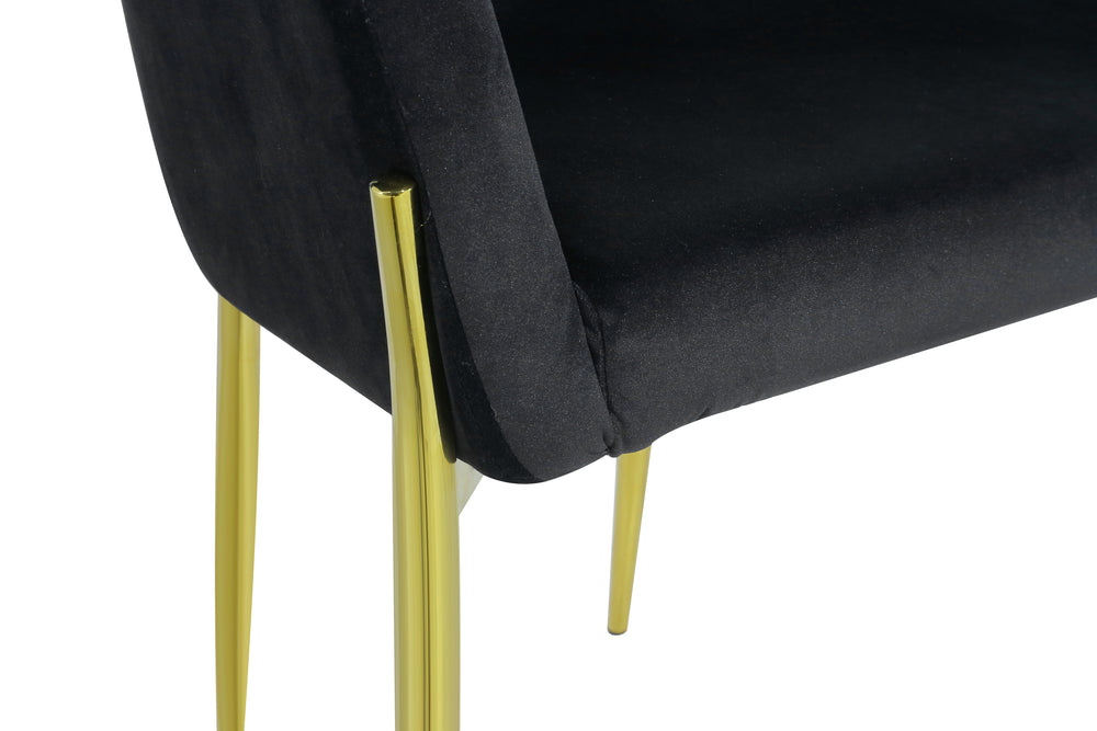 Alfieri Dining Chair Gold/Black