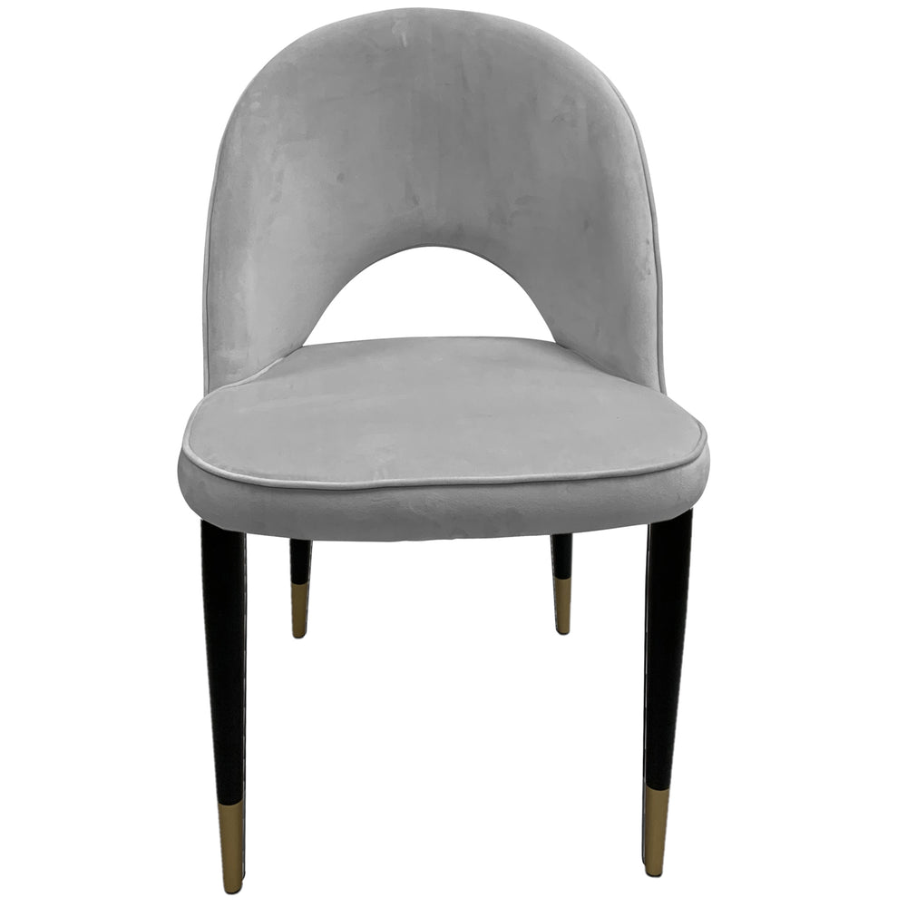 Bourdain Dining Chair Grey Velvet