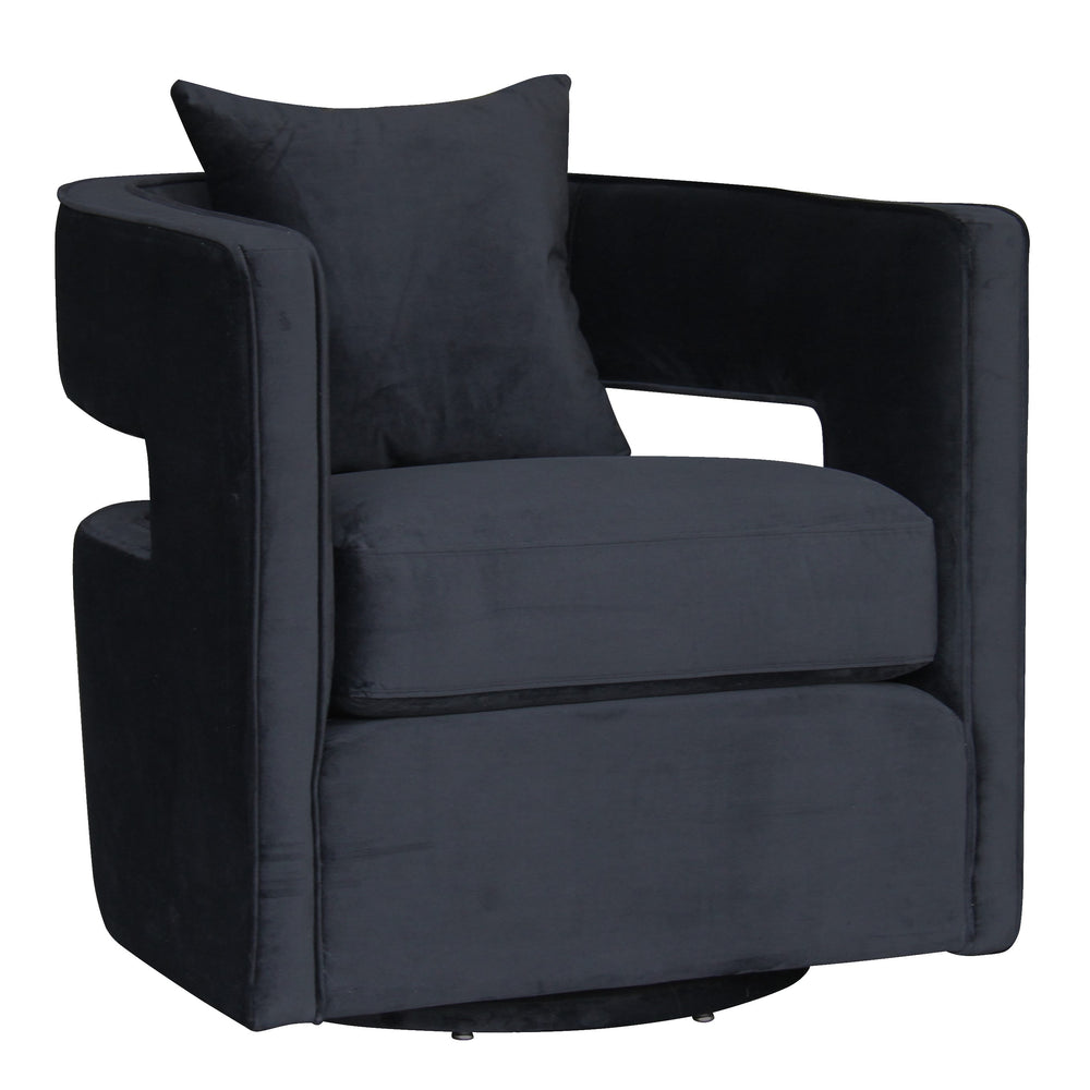 Rhonda Swivel Chair Black