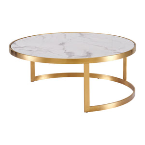 Splendour Coffee Table Set White Marble