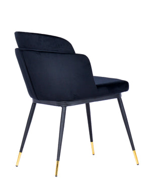 Load image into Gallery viewer, Talulah Dining Chair Black Velvet