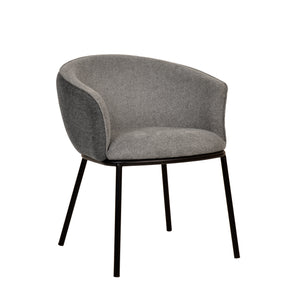 Zimmerman Dining Chair Grey Linen