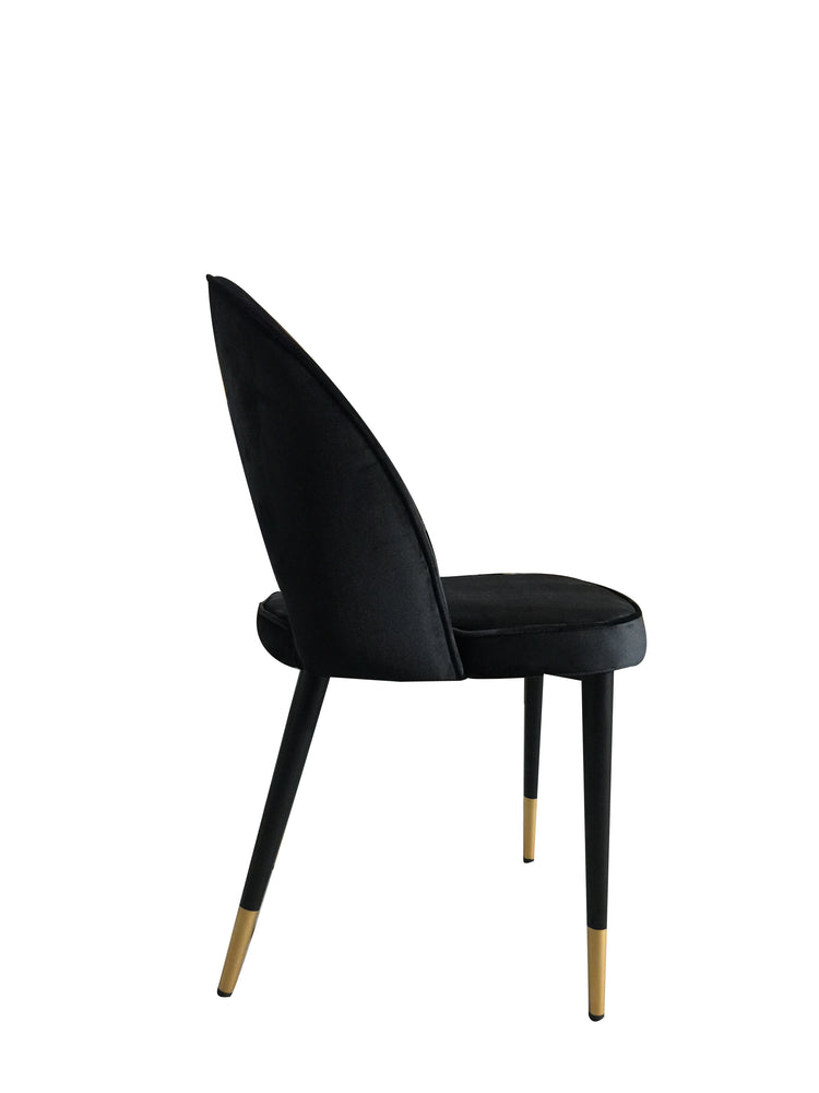Bourdain Dining Chair Black Velvet