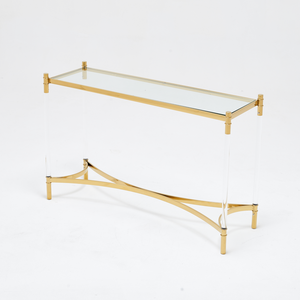 Floating Gold Console Table
