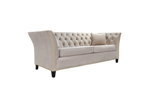 Load image into Gallery viewer, Balboa 3 Seater Sofa Creme Velvet