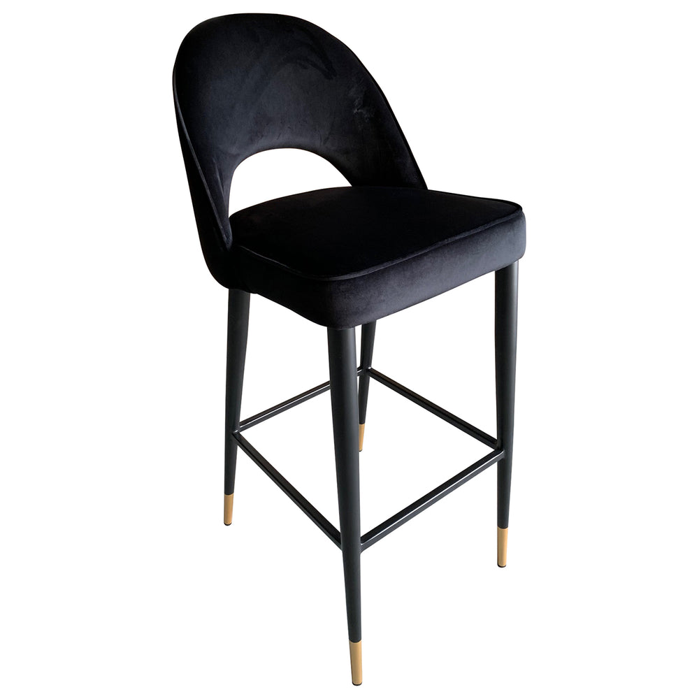 Load image into Gallery viewer, Bourdain Bar Chair Black Velvet