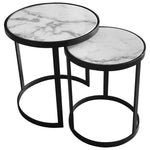 Glory Side Table Set White