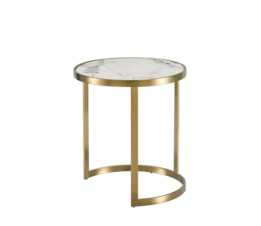 Splendour Side Table Set White Marble