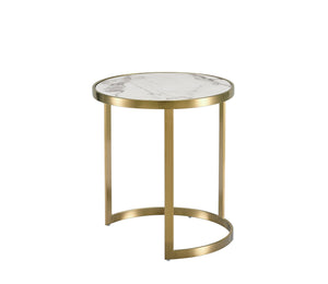 Load image into Gallery viewer, Splendour Side Table Set White Marble