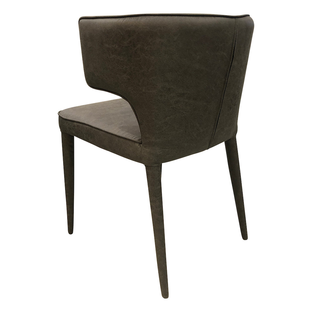 Portofino Dining Chair Washed Black Leather Look