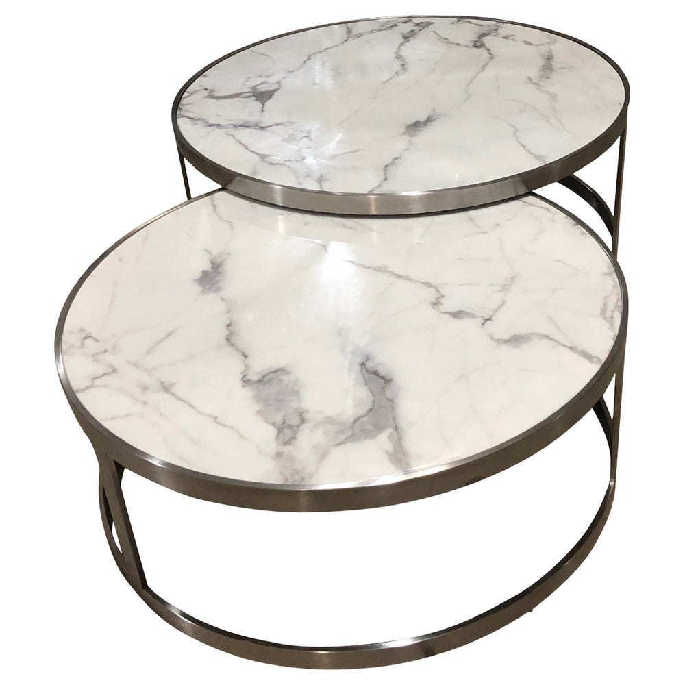Load image into Gallery viewer, Sterling Coffee Table Set White