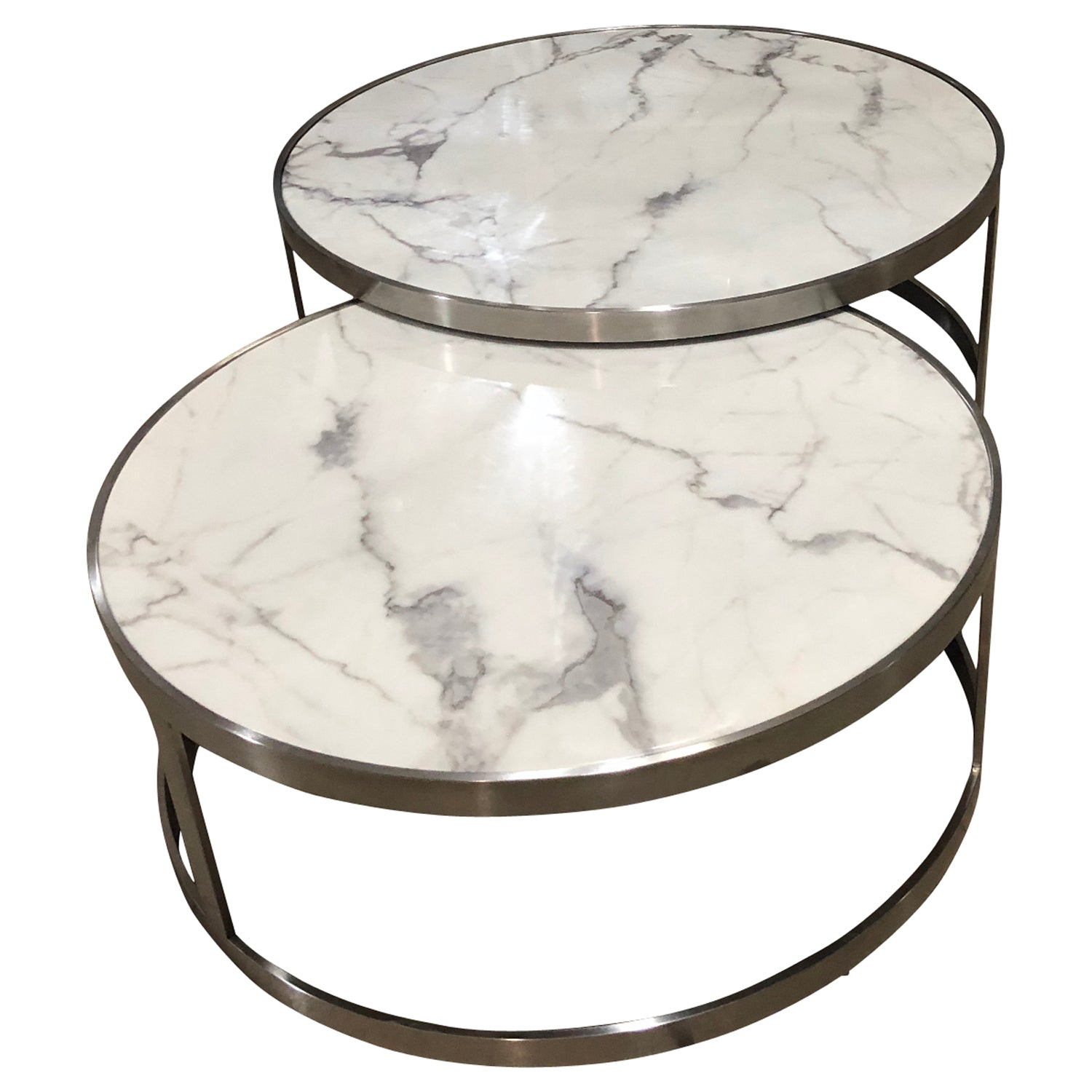 Sterling Coffee Table Set White Marble
