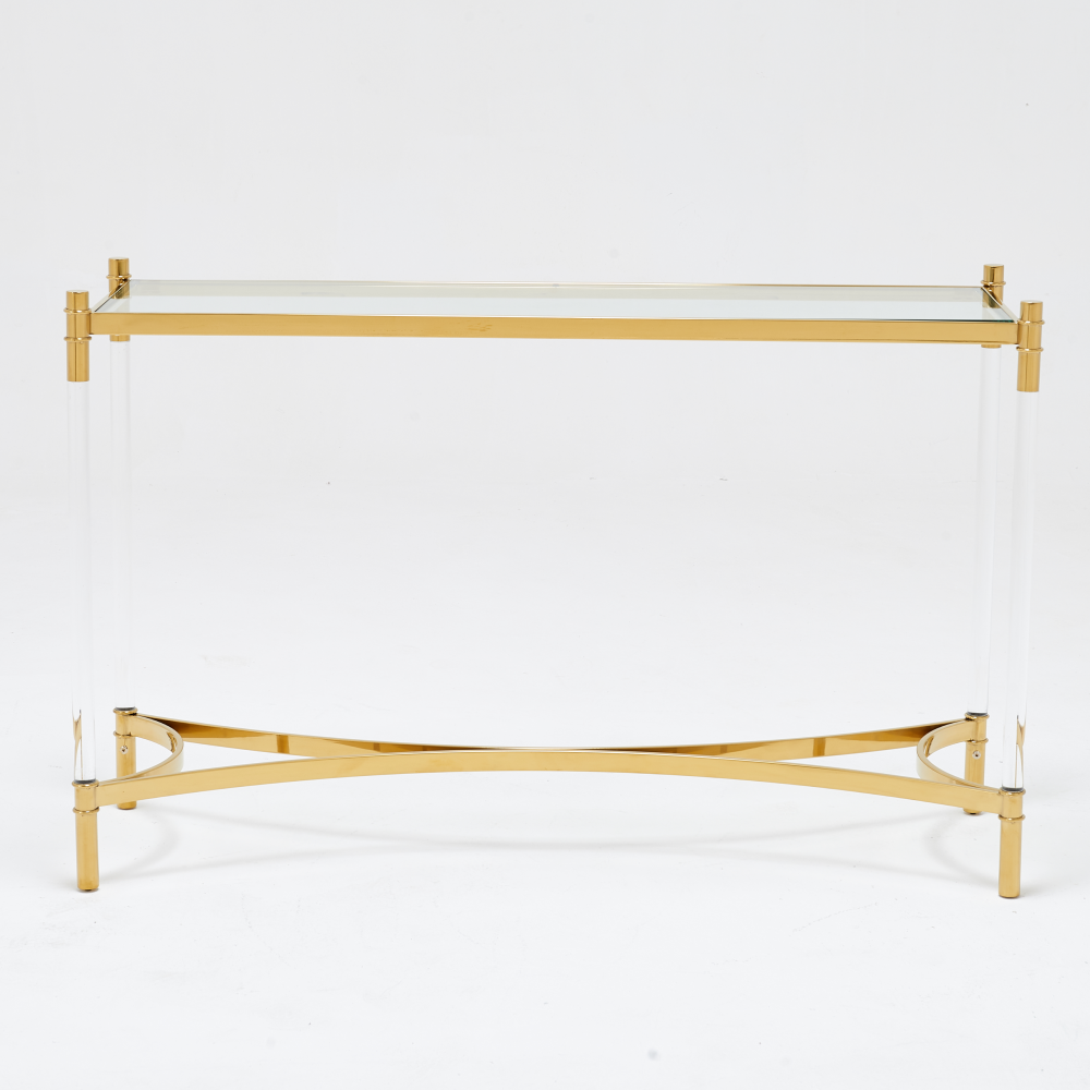 Load image into Gallery viewer, Floating Gold Console Table