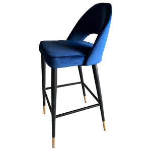 Bourdain Bar Chair Navy Velvet