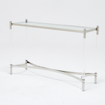 Floating Console Table Silver
