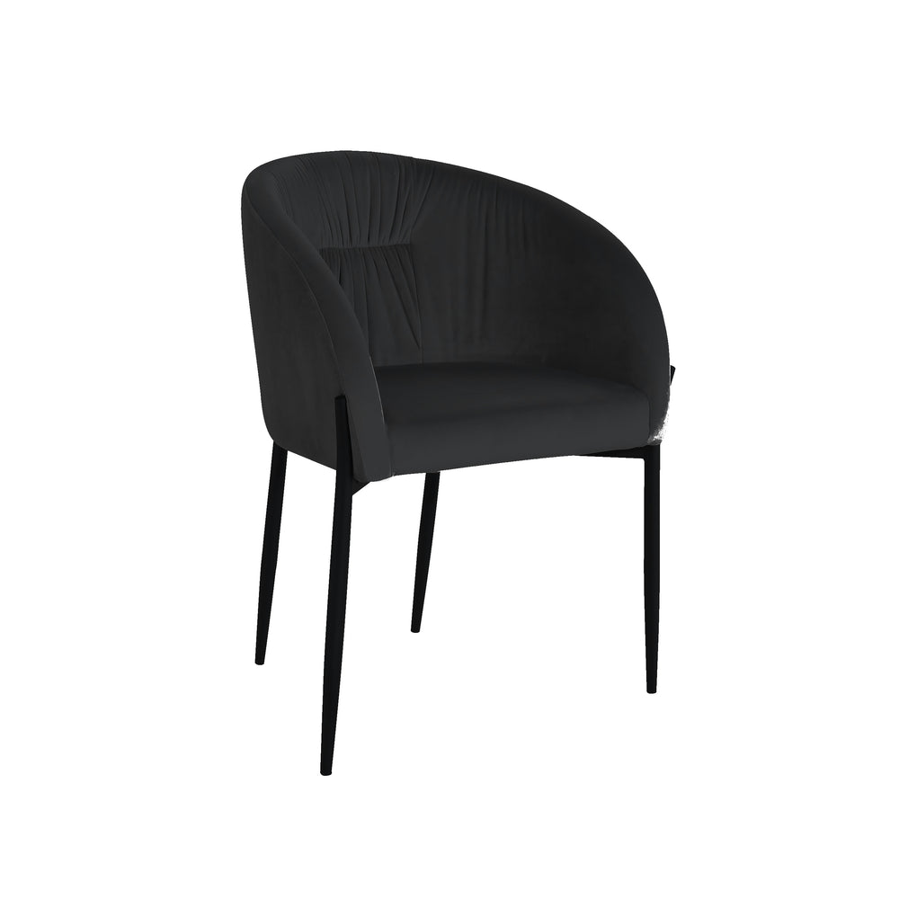Alfieri Dining Chair Black Velvet