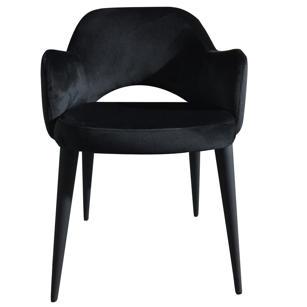 Load image into Gallery viewer, Terrazo Dining Chair Black Velvet