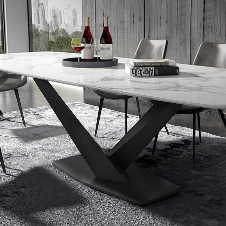 Voltaire Dining Table Black Base