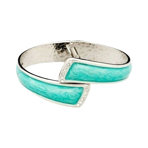 Color Pursehook -  Turquoise & Silver with Clear Crystals - FUMI - www.pursehook.com