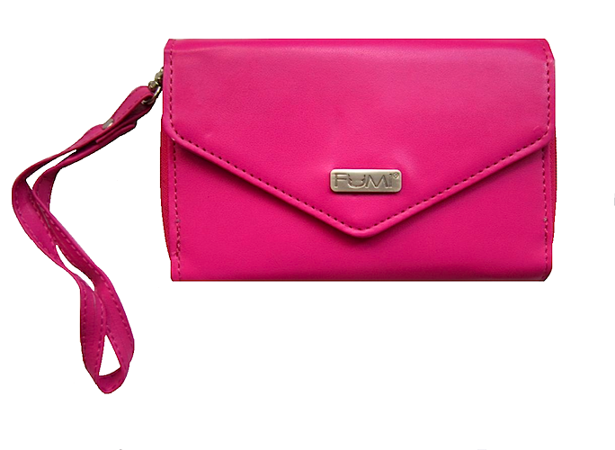Wallet - Cell Phone Wallet - Dark Pink - FUMI - www.pursehook.com