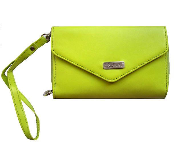 Wallet - Cell Phone Wallet - Lime Green - FUMI - www.pursehook.com