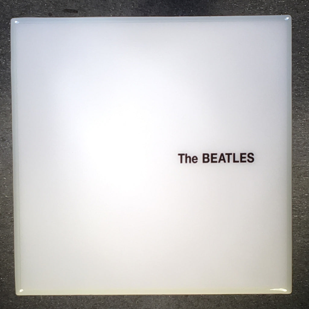 THE BEATLES White Album Coaster Custom Ceramic Tile White Trim - CoasterLily Tiles