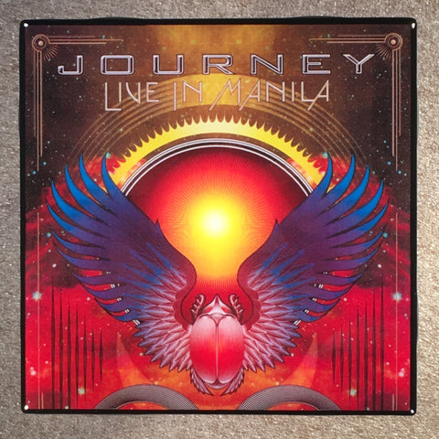 JOURNEY Live In Manila Coaster Record Cover Ceramic Tile - CoasterLily Tiles