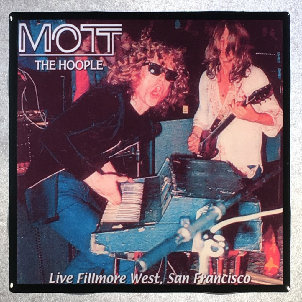 MOTT THE HOOPLE Live Fillmore West Coaster Custom Ceramic Tile - CoasterLily Tiles