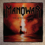 MANOWAR Die With Honor Coaster Record Cover Ceramic Tile - CoasterLily Tiles