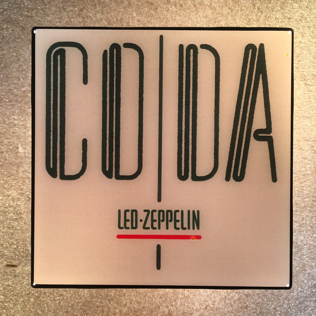 LED ZEPPELIN CODA Coaster Record Cover Ceramic Tile - CoasterLily Tiles