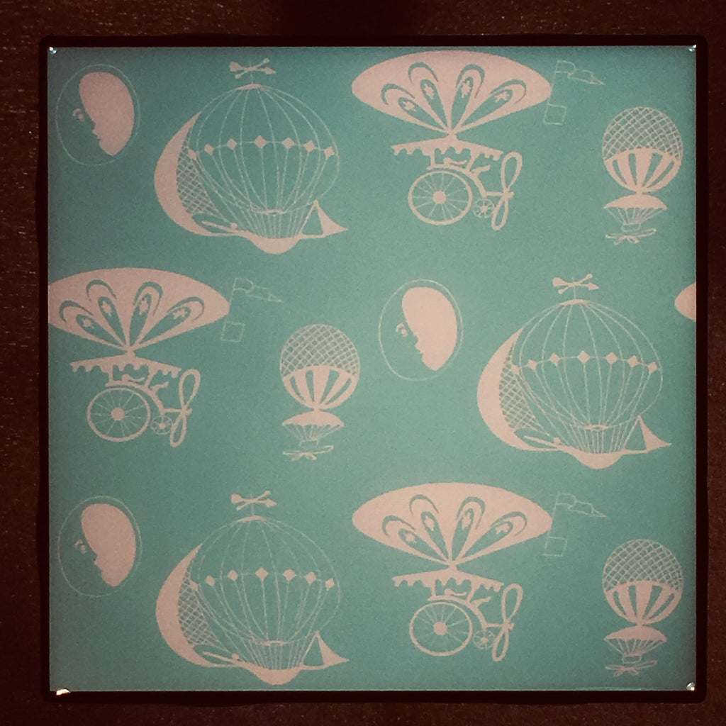 PYREX Balloons Large Print Coaster Custom Ceramic Tile - CoasterLily Tiles
