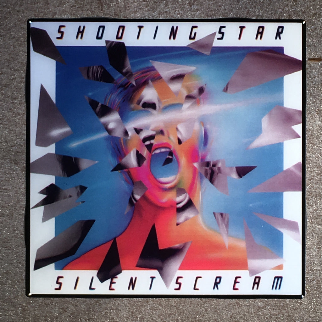 SHOOTING STAR Silent Scream Coaster Ceramic Tile Record Cover