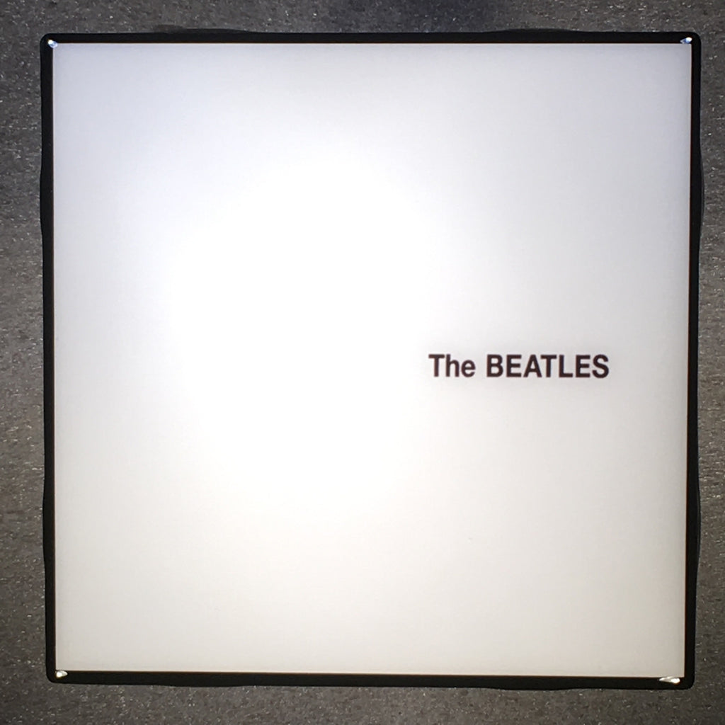 THE BEATLES White Album Coaster Custom Ceramic Tile Black Trim - CoasterLily Tiles