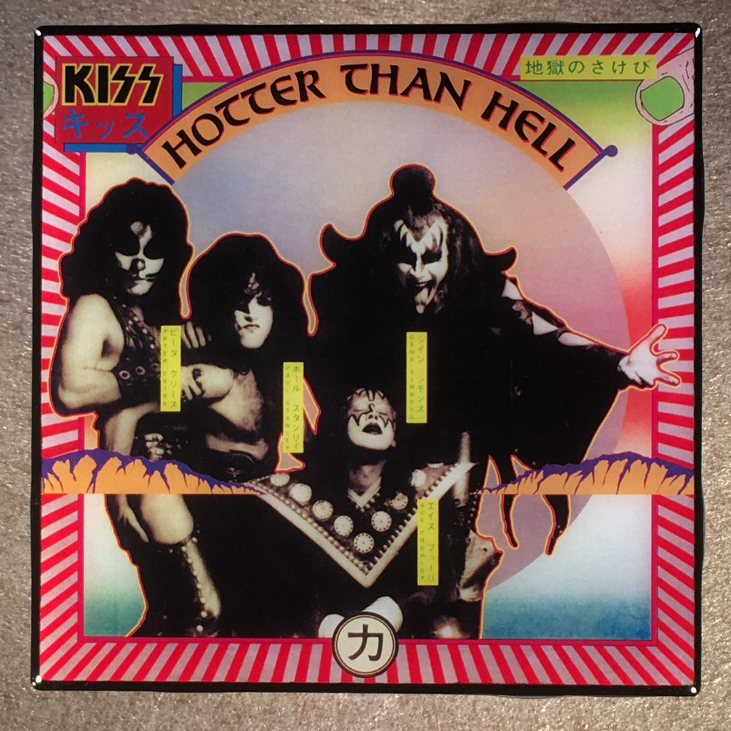 KISS Hotter Than Hell Coaster Custom Ceramic Tile - CoasterLily Tiles