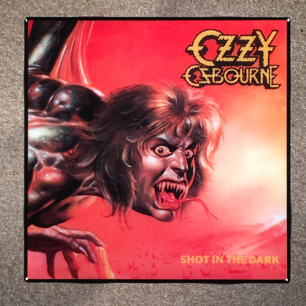 OZZY OSBOURNE Shot In The Dark Cover Ceramic Tile Coaster - CoasterLily Tiles