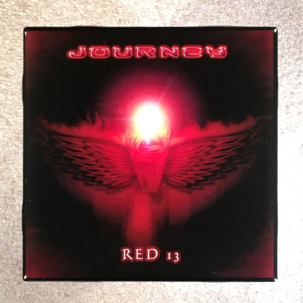 JOURNEY Red 13 Coaster Record Cover Ceramic Tile - CoasterLily Tiles