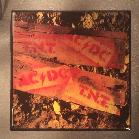 AC/DC T.N.T Record Cover Ceramic Tile Coaster - CoasterLily Tiles