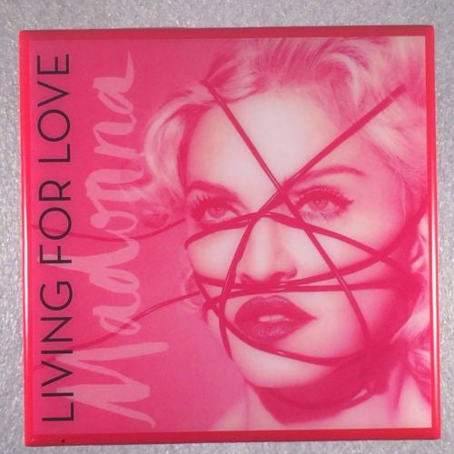 MADONNA Living For Love Record Cover Art Ceramic Tile Coaster - CoasterLily Tiles