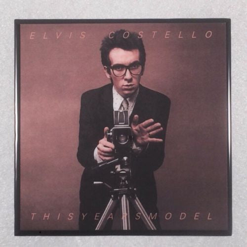 ELVIS COSTELLO This Years Model Record Cover Art Ceramic Tile Coaster - CoasterLily Tiles