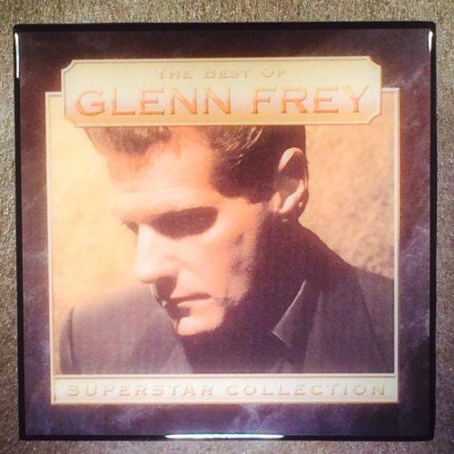 GLENN FREY The Best Of Superstar Collection Record Cover Ceramic Tile Coaster - CoasterLily Tiles