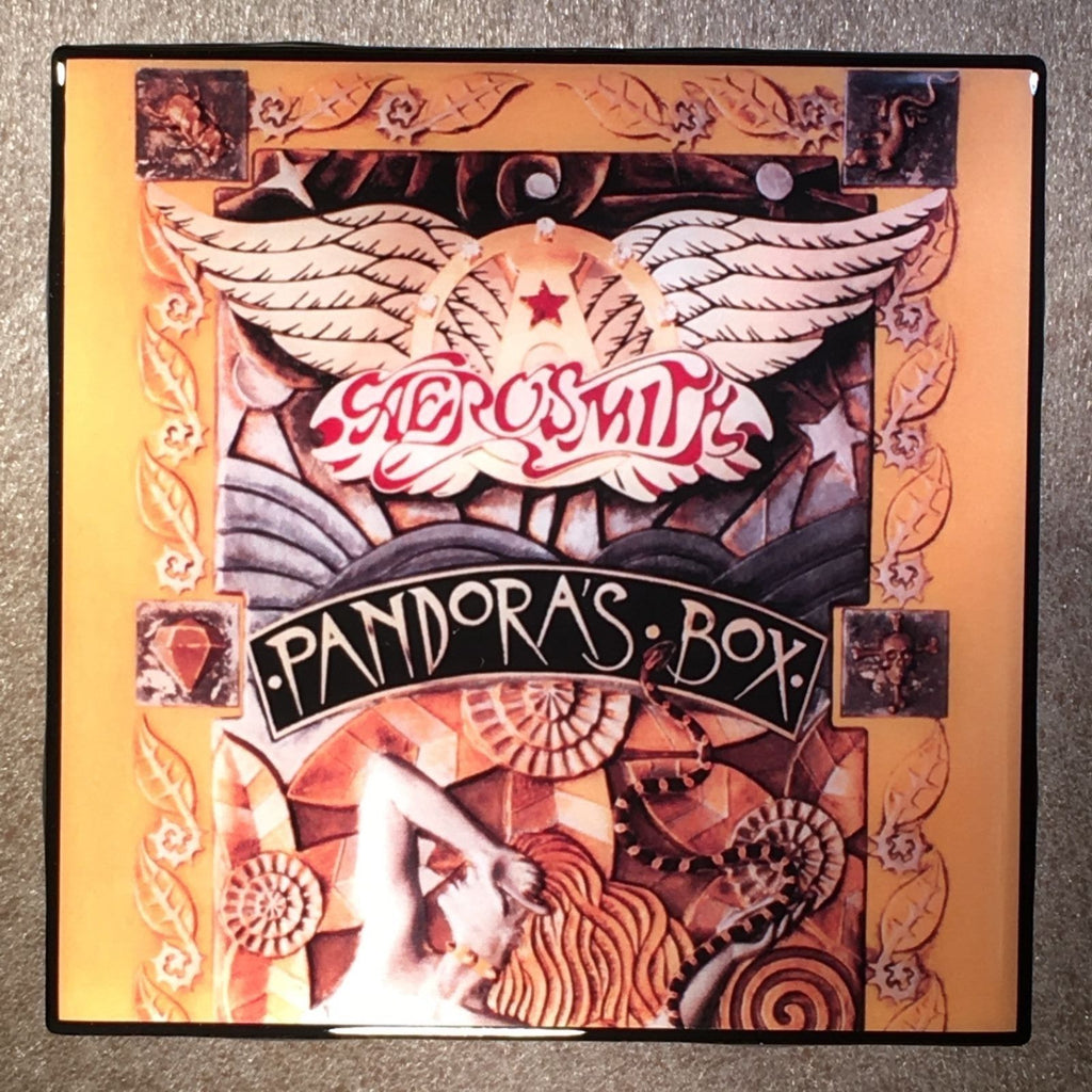 AEROSMITH Pandora's Box Coaster Record Cover Ceramic Tile - CoasterLily Tiles