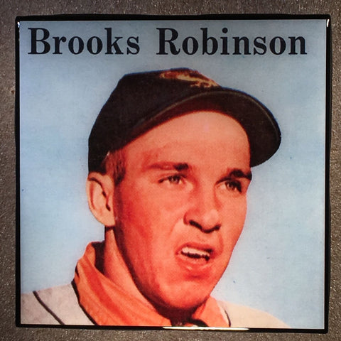 BROOKS ROBINSON Coaster Ceramic Tile - baseball card - CoasterLily Tiles