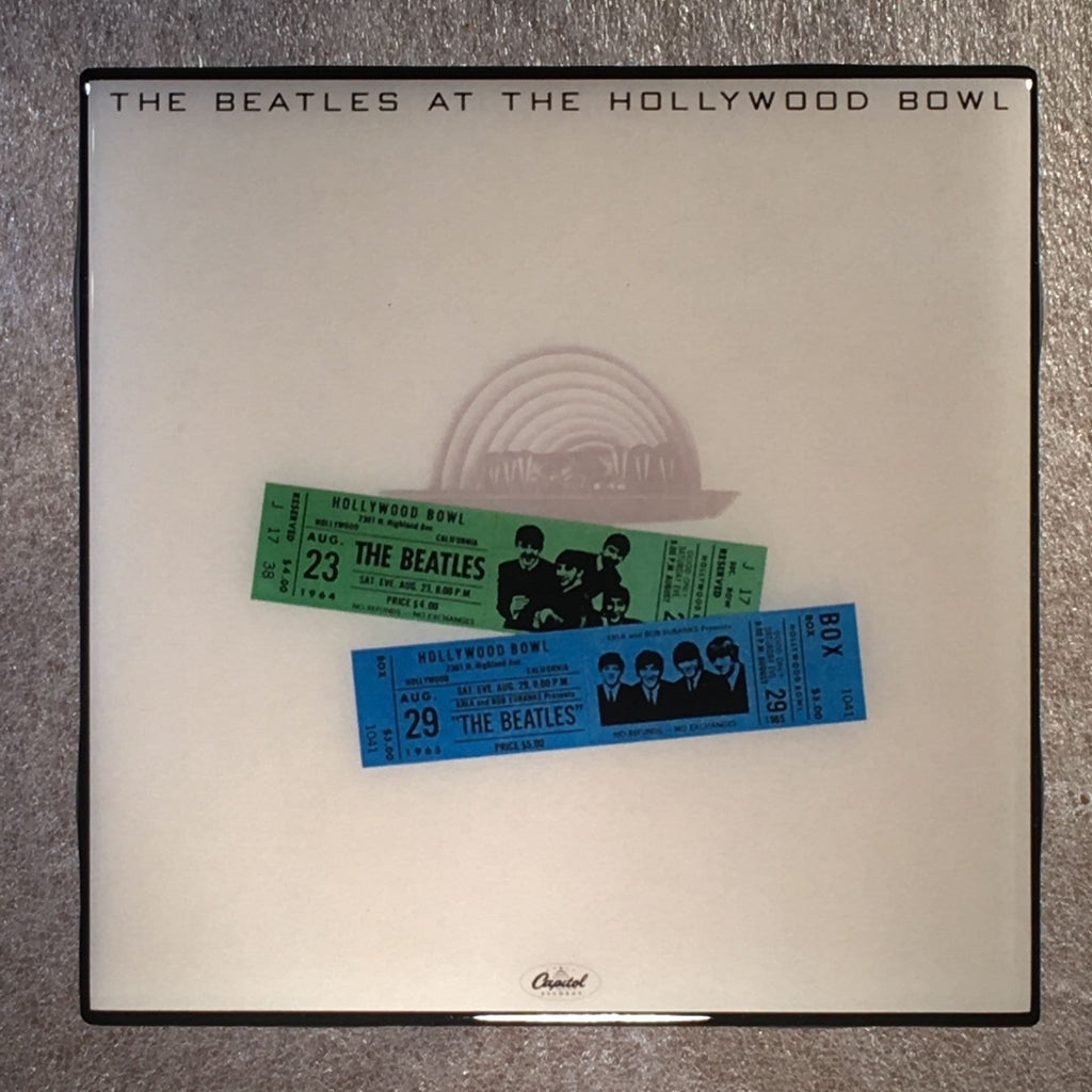 THE BEATLES At The Hollywood Bowl Coaster Record Cover Ceramic Tile - CoasterLily Tiles