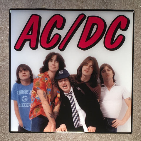 AC/DC Coaster Custom Ceramic Tile - CoasterLily Tiles