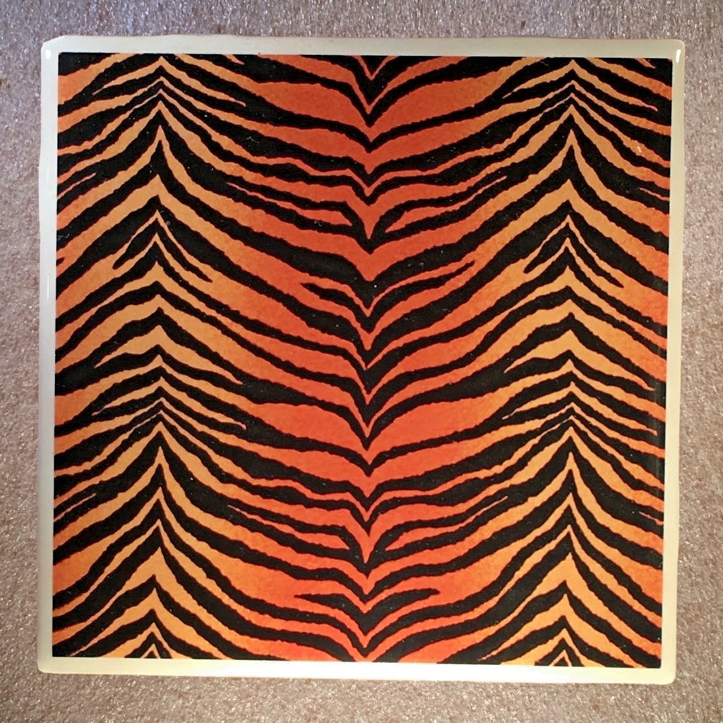 TIGER SKIN Design Coaster Ceramic Tile