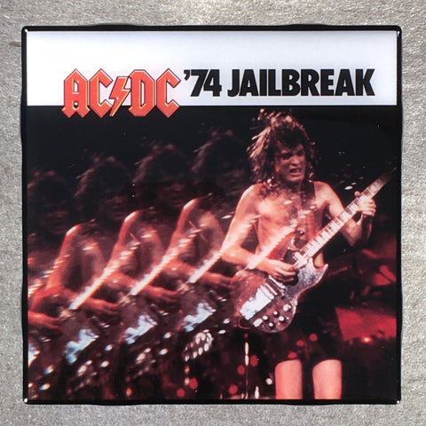 AC/DC '74 Jailbreak Coaster Record Cover Ceramic Tile - CoasterLily Tiles