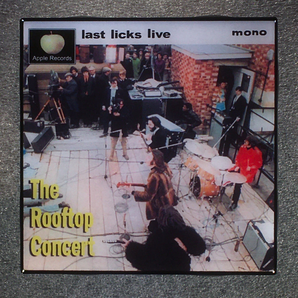 THE BEATLES Last Licks Live Ceramic Tile Custom Coaster Rooftop Concert