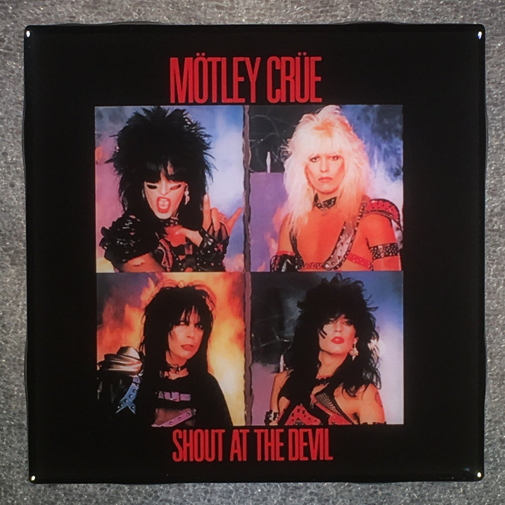 MOTLEY CRUE Shout At The Devil Coaster Custom Ceramic Tile