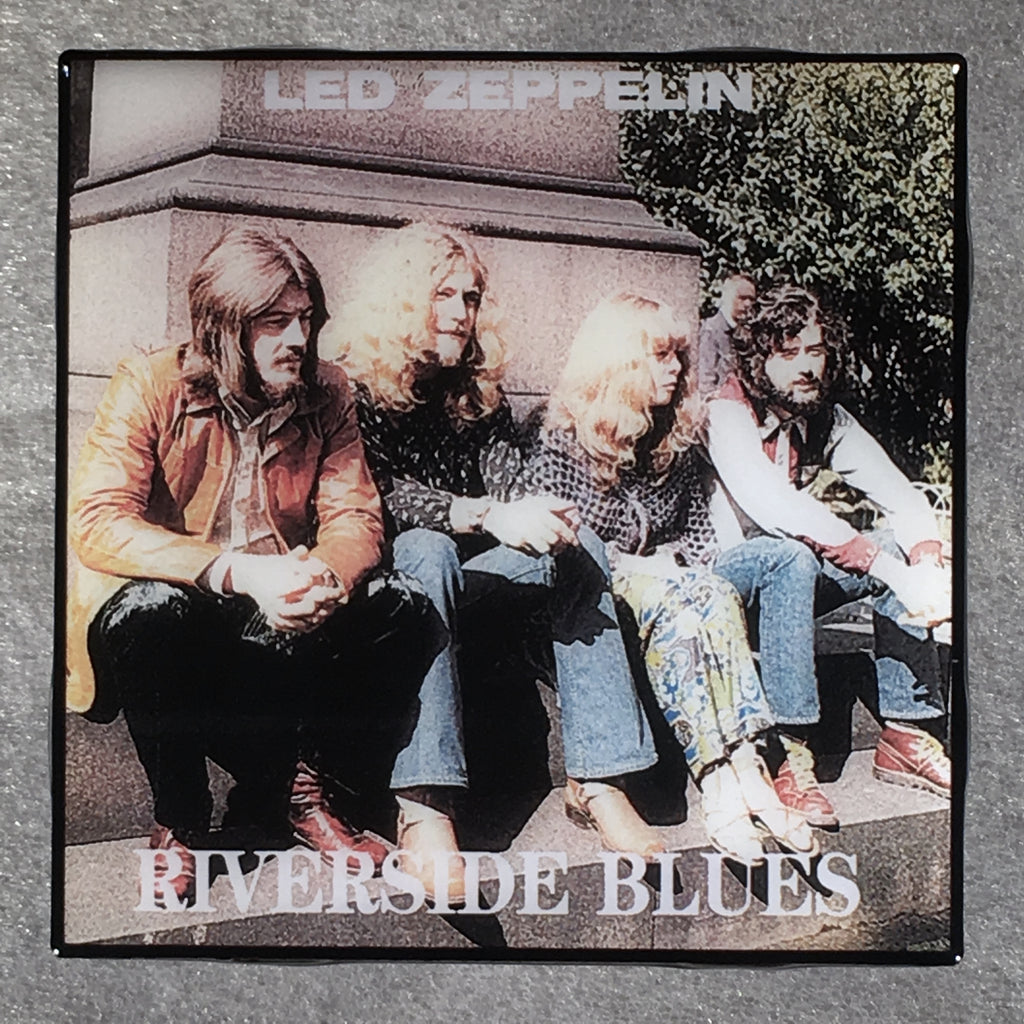 LED ZEPPELIN Riverside Blues Coaster Custom Ceramic Tile - CoasterLily Tiles